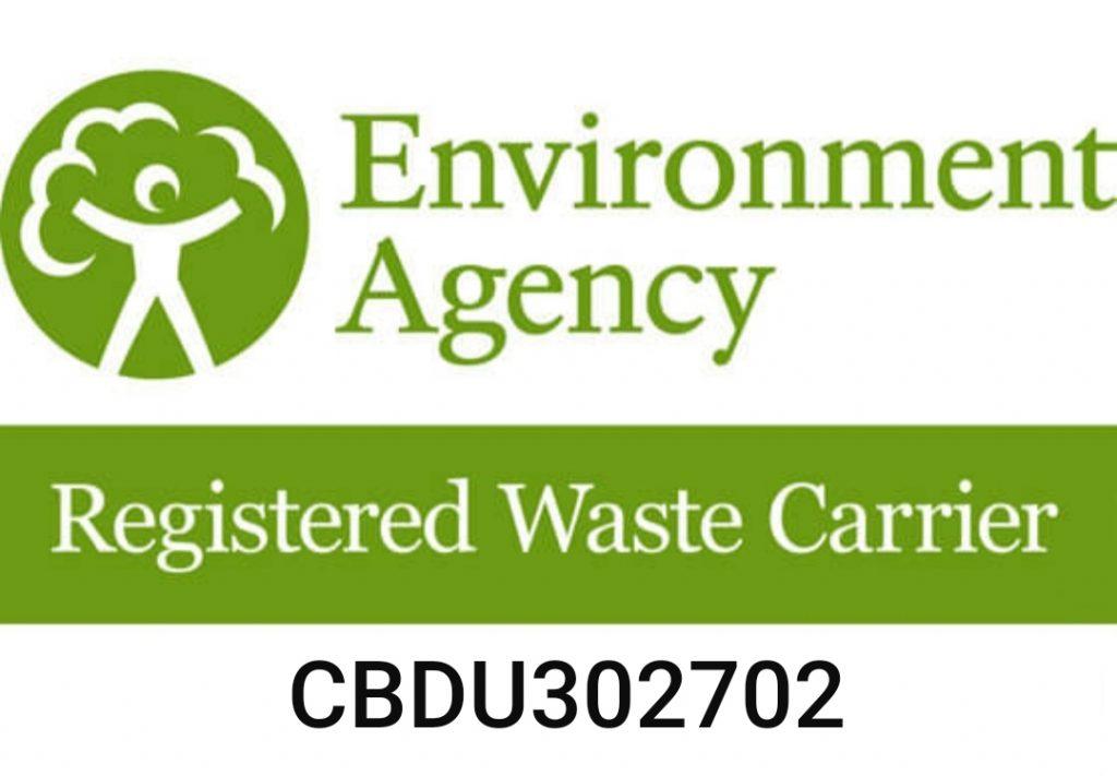 Registered Waste Carrier number CBDU302702